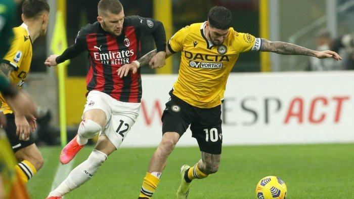 Sedang Berlangsung Babak Kedua AC Milan vs Udinese 0-1, Gol Sundulan Kepala Rodrigo Becao Menit 68