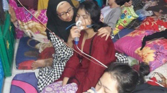 VIDEO: Cium Bau Tidak Sedap, Belasan Santri di Tangerang Sesak Nafas