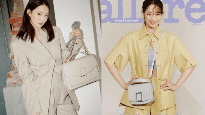 Aktris drama Korea Shin Min Ah mengenakan setelah musim panas.