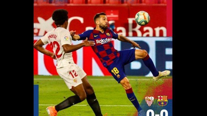 Ditahan Sevilla 0-0, Barcelona Rawan Digusur Real Madrid di Puncak Klasemen Sementara