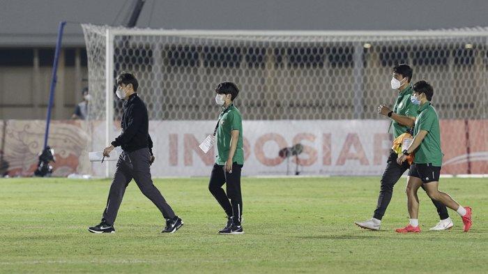 Shin Tae-yong pelatih Timnas Indonesia U-23 kemungkinan akan merubah susunan pemainnya saat menghadapi Bali United di laga ujicoba