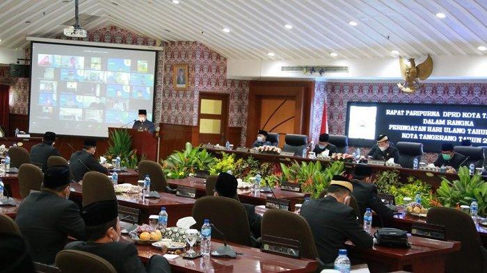 Pemkot Tangerang Sampaikan Pencapaian Penanganan Covid-19 pada Sidang Paripurna Istimewa DPRD