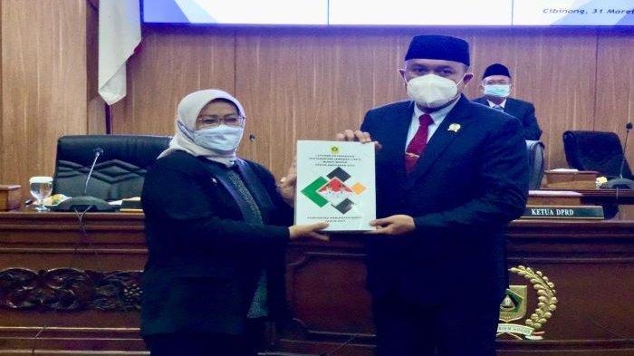 LKPJ Bupati Bogor di Sidang Paripurna DPRD Kabupaten Bogor Sebut Banyak Refocusing Anggaran
