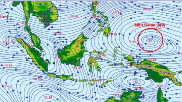 UPDATE Cuaca Selasa 13 April 2021: Bibit Siklon Tropis, BMKG Ingatkan Masyarakat Waspadai Banjir