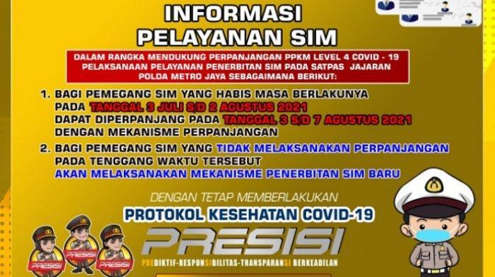 UPDATE Jadwal SIM Keliling untuk Wilayah Hukum DKI Jakarta dan Sekitarnya Rabu 28 JuLi 2021