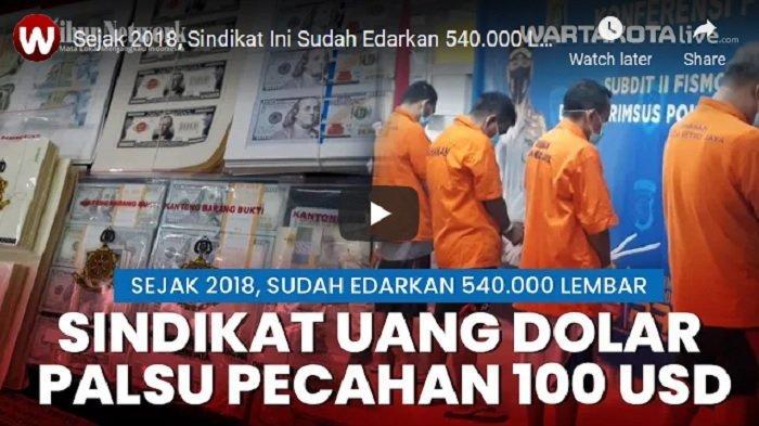 VIDEO Sindikat Pembuat dan Pengedar Uang Dolar Amerika Palsu Dibekuk Polda Metro Jaya