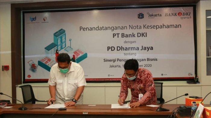 Sinergi BUMD, UUS Bank DKI Dukung Layanan Perbankan PD Dharma Jaya