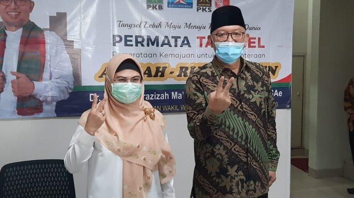 Siti Nur Azizah dan Ruhamaben di kawasan Rawa Buntu, Serpong, Tangsel pada Senin (12/10/2020).