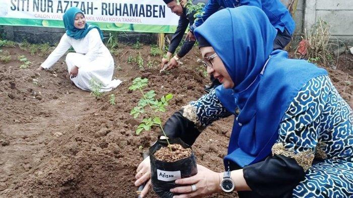 Kian Intim, Siti Nur Azizah-Ruhammaben Tanam Pohon Kelor Bareng