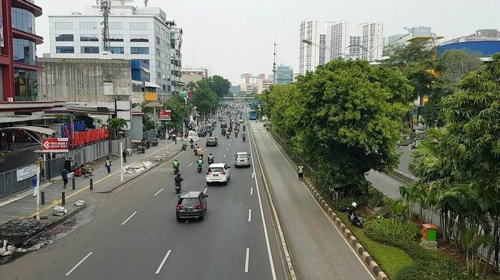 Arus Lalin di Depan Plaza Kenari Mas Senen Ramai Lancar Pukul 11.35