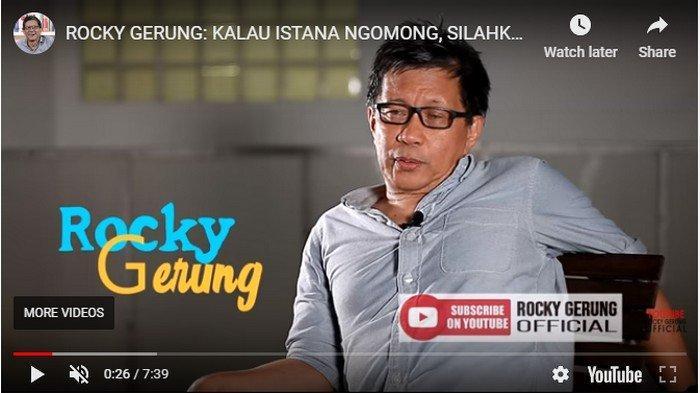 Rocky Gerung Sebut Prabowo Subianto Jadi Matahari di Kabinet, Presiden Jokowi Jadi Gelap