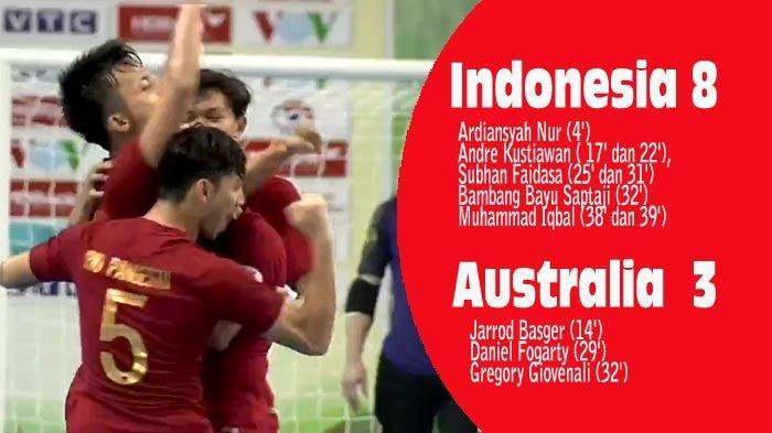 Indonesia Menang Telak 8-3 Atas Australia, Lolos ke Babak Semifinal
