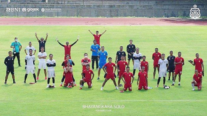 Skuad Bhayangkara Solo FC yang akan mengikuti turnamen pramusim Piala Menpora 2021