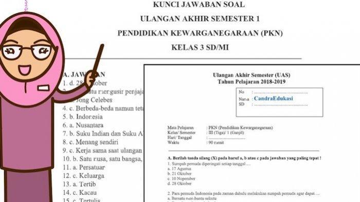 Latihan Soal UKK PKN untuk Kelas 3 SD dan Kunci Jawaban di Semester Genap 2021