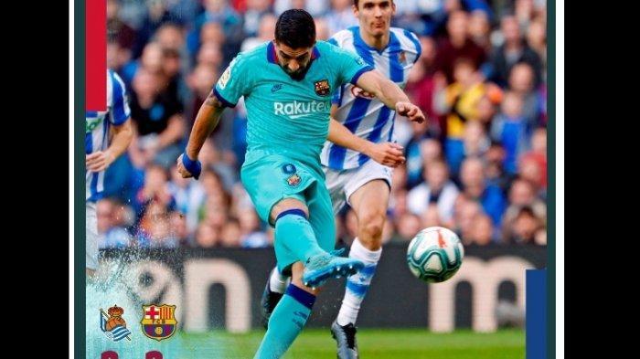 Ditahan Real Sociedad 2-2, Barcelona Terancam Dikudeta Real Madrid di Puncak Klasemen Liga Spanyol