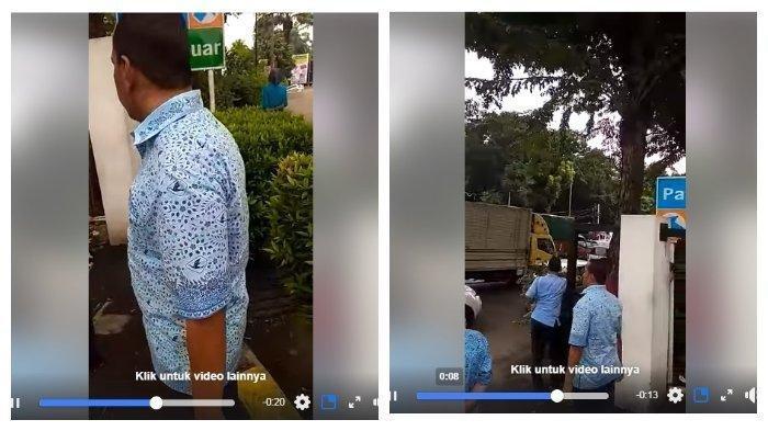 Viral di Media Sosial Sopir Taksi Seragam Biru Dihajar Oknum Dishub di Depan Cibubur Junction