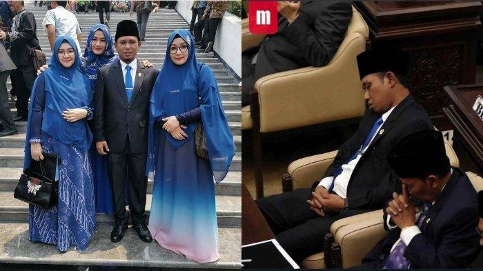 FOTO Anggota DPR Beristri Tiga Tidur Saat Pelantikan, Lora Fadil: Ini Betul-Betul Faktor Kecapaian