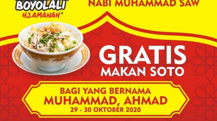 Pemilik Nama Muhammad dan Ahmad Gratis Makan di Warung Soto Seger Boyolali,  Peringatan Maulid Nabi