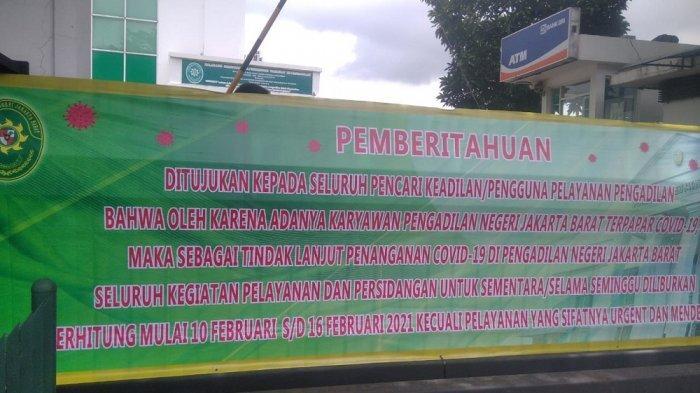 Petugas Keamanan Tewas Karena Covid-19, Pengadilan Negeri Jakarta Barat Ditutup Sepekan