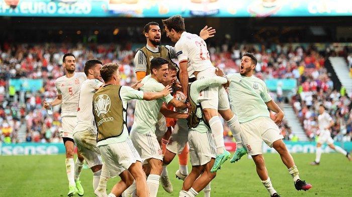 Spanyol akhirnya melenggang ke babak perempat final Piala Eropa 2020 setelah menaklukkan Kroasia 5-3 di babak 16 besar, Selasa (29/6/2021) dini hari.