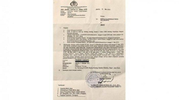 BREAKING NEWS: Beredar SPDP Kasus Dugaan Makar, Muncul Nama Prabowo Subianto