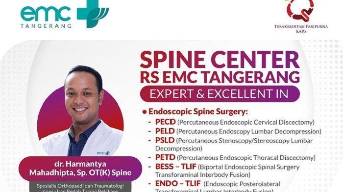 Spine Center RS EMC Tangerang yang bisa menangani kasus saraf terjepit dengan teknik operasi PLSD. (Istimewa)