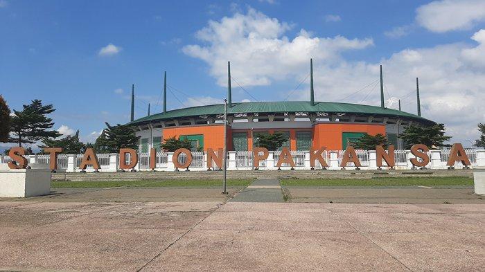 Tampak luar Stadion Pakansari, Kabupaten Bogor yang akan dijadikan venue kompetisi Liga 1 musim 2021