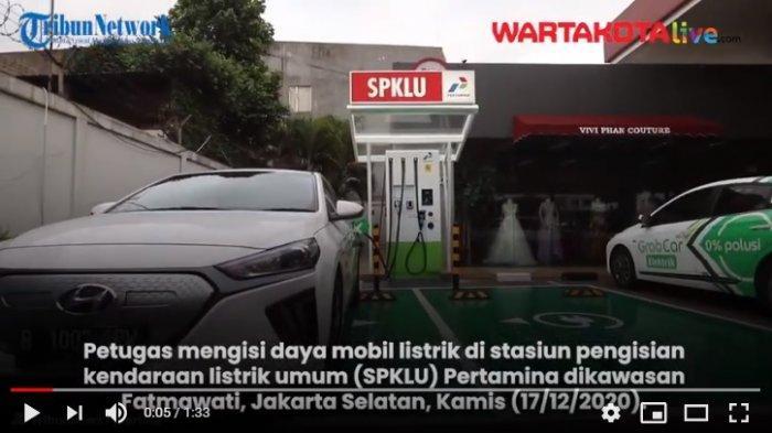 VIDEO  Stasiun Pengisian Kendaraan Listrik Umum Pertamina Telah Beroperasi di Jakarta Selatan