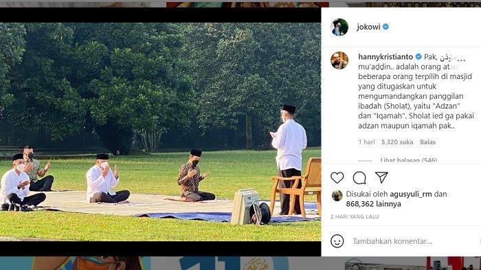 STATUS Presiden Jokowi Dibully Netizen, TGB Jelaskan Arti MUAZIN dalam Salat Idul Adha Secara Fikih