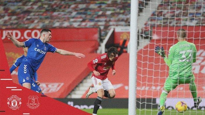 Hasil Lliga Inggris Manchester United 3-3 Everton: Setan Merah Gagal Kudeta Posisi Manchester City