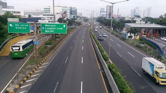 H+4 Idul Fitri, Sejumlah Ruas Jalan di Kebon Jeruk Jakarta Barat Masih Lengang