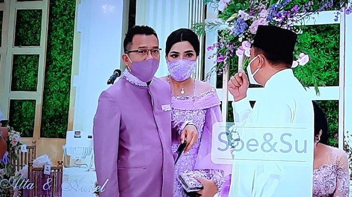 Anang Hermansyah dan Ashanty saat lamaran Aurel Hermansyah dan Atta Halilintar di Hotel Intercontinental Pondok Indah, Sabtu (13/3/2021).
