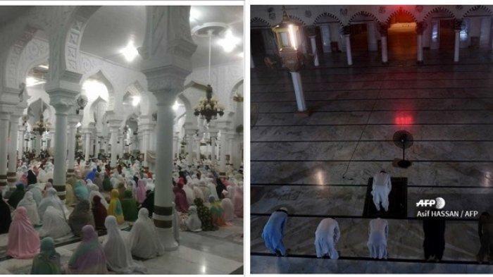 FOTO-foto Salat Tarawih di Sejumlah Negara Islam, dari Masjid Haram sampai Palestina, Juga di Aceh