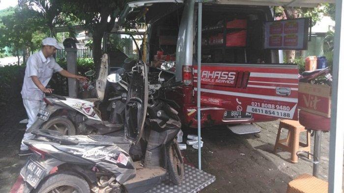 Wahana Honda Telah Layani Servis 697 Motor Honda Korban Banjir di 10 Bengkel Ahass