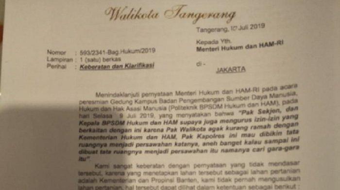 MAKIN PANAS, Wali Kota Tangerang Diseret ke Pengadilan Berselisih dengan Menkumham