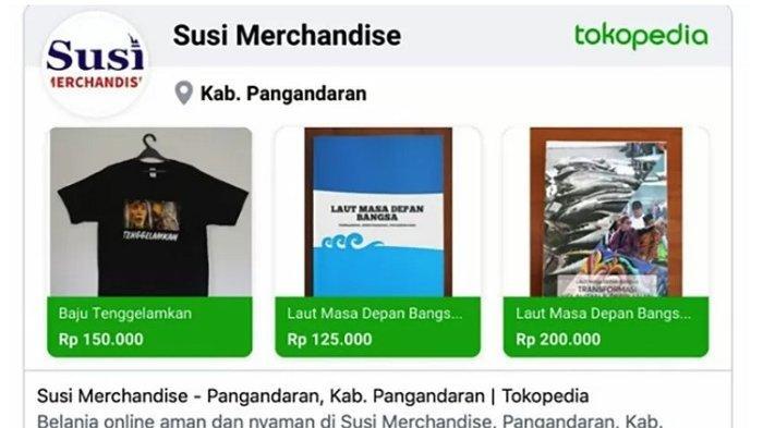 Dulu Tenggelamkan Kapal, Kini Susi Pudjiastuti Jualan Kaos Bertuliskan 'Tenggelamkan'