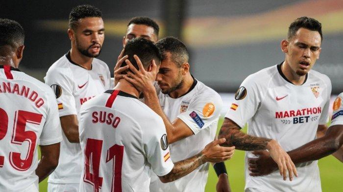 Hasil Babak Pertama Sevilla vs Manchester United 1-1, Gol Penalti Fernandes Dibalas Gol Suso