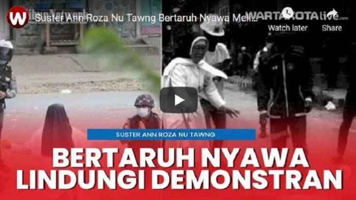 VIDEO Suster Ann Roza Nu Tawng Bertaruh Nyawa Melindungi Para Demonstran Penentang Kudeta di Myanmar