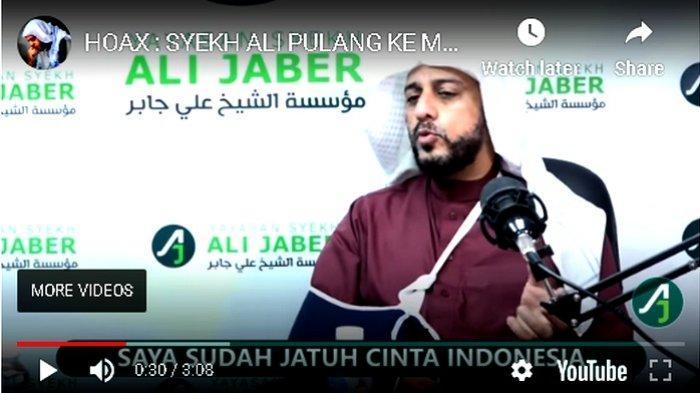 Bantah Pulang ke Madinah sebagai Berita Hoax, Syekh Ali Jaber: Saya Siap Mati di Indonesia