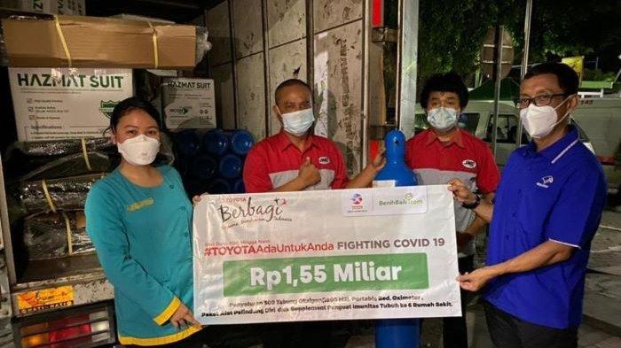 Toyota Indonesia Donasi 300 Tabung Oksigen dan 10.800 Sarana Penanggulangan Covid-19 di Indonesia