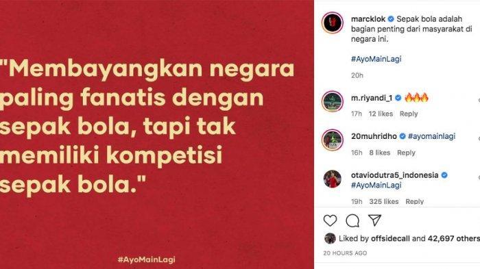 Tagar #AyoMainLagi Mencuat, Ketum The Jakmania Diky Soemarno Beri Dukungan