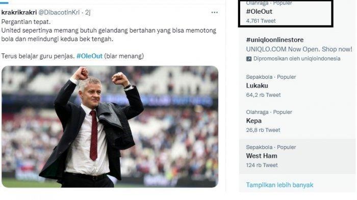 Manchester United Menang 2-1 Lawan West Ham, Tagar Ole Out Tetap Trending, Ternyata Ini Alasannya
