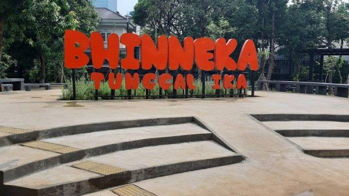 Taman Bhinneka Tunggal Ika Menjadi Tempat Favorit Warga Panglima Polim Jakarta Selatan