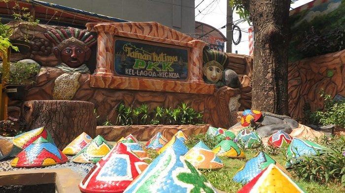 50 Topi Caping Warna Warni Hiasi Taman Hatinya PKK Lagoa, Ide dari Malang Jawa Timur
