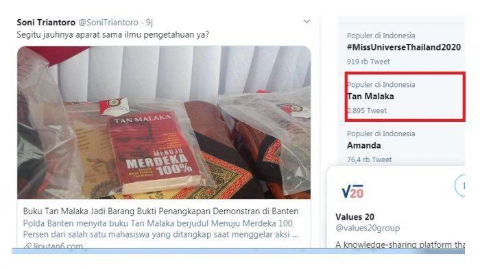 Tan Malaka trending karena buku tentang sang tokoh kiri ini disita polisi untuk dijadikan barang bukti menjerat pendemo anti UU Cipta Karya