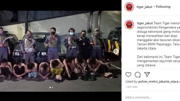 Viral Video Polisi Kejar-kejaran dengan Geng Motor yang Bawa Celurit, hingga Pelaku Ditabrak Jatuh