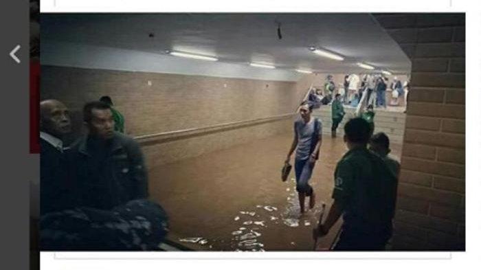 Stasiun Tebet Terendam Banjir, KRL Depok/Bogor hanya Sampai Pasar Minggu