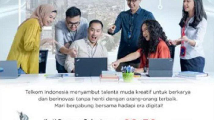 LOWONGAN KERJA Telkom, Pendaftaran Dibuka Mulai 20-30 September 2021