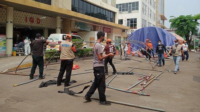 Pasien Covid-19 Berkurang Drastis, 8 Tenda Darurat di RSUD Chasbullah Abdulmadjid Bekasi Dibongkar