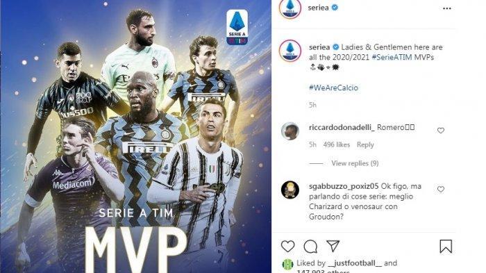 Daftar MVP Liga Seri A Musim Ini, Lukaku, Ronaldo, Donnarumma, Barella, Romero Terbaik di Posisinya